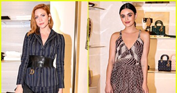 Brittany Snow Stuns at Dior's Hudson Yards Opening with Lucy Hale