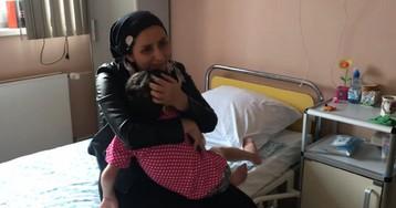 Семилетняя Айша из Ингушетии увиделась с мамой