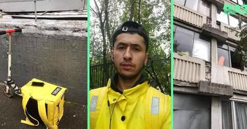 Доставщик еды спас 13-летнего подростка, пытавшегося выйти в окно в Москве