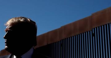 La visita de Donald Trump al muro, en imágenes