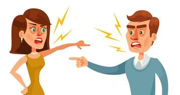 Анекдот про ссору двух супругов