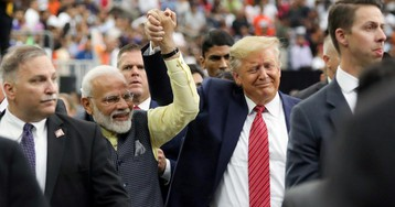 "Trump beside him, Modi says it loud and clear without saying it: ""Behave yourself, Pakistan"""