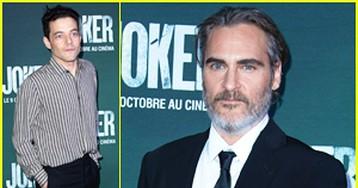 Joaquin Phoenix Gets Support from Rami Malek at 'Joker' Paris Premiere!
