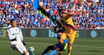 El Barça se alivia en Getafe