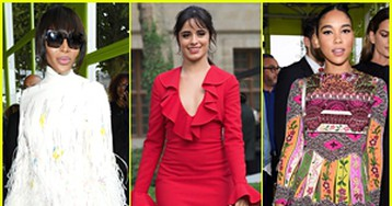 Naomi Campbell, Camila Cabello & More Attend Valentino Fashion Show During Paris Fashion Week