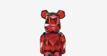 fragment design Collabs on the First-Ever Be@rbrick in Baccarat Red Crystal