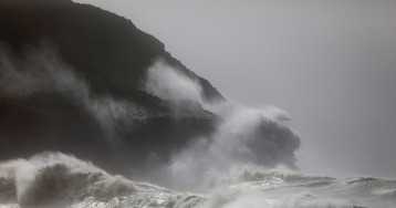 A powerful mid-Atlantic storm is veering toward Ireland