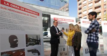 El PP denuncia los crímenes del etarra que mató a Tomás y Valiente frente a su exposición de arte