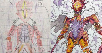 Artist Dad Adapts Sons' Drawings Into Anime Style (30 Images)