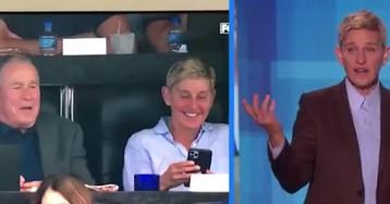 ¿Puede Ellen DeGeneres ser amiga de George W. Bush? Hollywood no lo ve claro