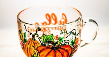 Hand-Painted Glass Mugs and Teapots Look Like Beautiful Stained Glass Art