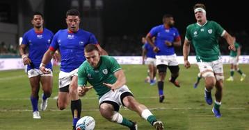 Irlanda sortea al supertifón Hagibis y se mete en cuartos