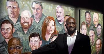 George Bush se estrena como pintor en Washington