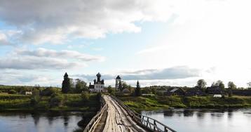 Старинный мост в Архангельской области