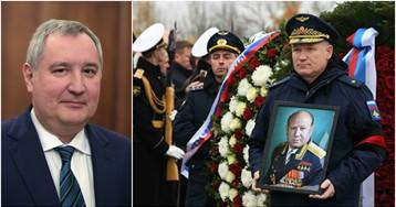 Роскосмос объяснил, почему Рогозин не пришел на похороны Леонова