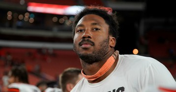 Myles Garrett Says Browns Fan Punched Him in the Face
