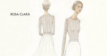 Mery Perelló elige un vestido de novia en encaje francés, inspirado en el Art Déco