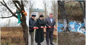 «Позорную аллею» за 500 тысяч торжественно открыли в Сахалинской области