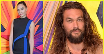 Gal Gadot & 'Justice League' Co-Star Jason Momoa Attend Louis Vuitton Grand Reopening in London