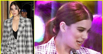 Hailee Steinfeld Rocks Plaid Blazer & Shorts for 'The One Show' Appearance