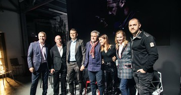Любовь Аксенова, Павел Прилучный, Агата Муцениеце, Денис Шведов на премьере второго сезона сериала «Бывшие»