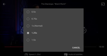 [Update: Netflix confirms] Netflix testing variable playback speed on Android