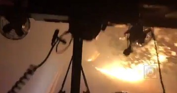 California's Kincade wildfire fury seen in harrowing video as firefighters drive into flames