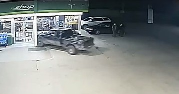 Ford Ranger Driver Goes Full-On Mustang Into a Gas Station - What He Does Next is Mind Blowing