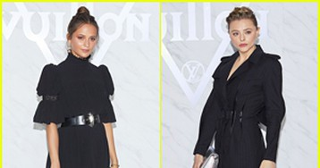 Alicia Vikander & Chloe Moretz Go All Black for Louis Vuitton Cruise 2020 Spin-Off Show!