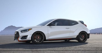 Hyundai Veloster N 'Type R Killer' and lifted Kona on their way to SEMA