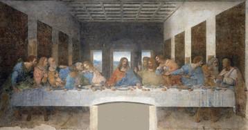 Накартине «Тайная вечеря» изначально были ноги Иисуса, нонаих месте сделали дверной проём