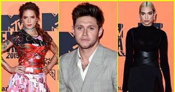 Halsey, Niall Horan, & Dua Lipa Hit MTV EMAs 2019 Red Carpet