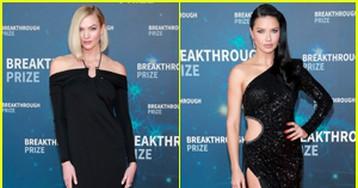 Karlie Kloss & Adriana Lima Go Glam for Breakthrough Prize 2019