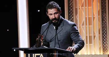 Shia LaBeouf Thanks Officer From Infamous 2017 Arrest During 'Honey Boy' Award Speech
