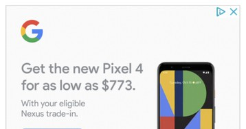 Hilarious Google ad offers $26 for old Nexus phones on Pixel 4 trade-in, doesn't even work