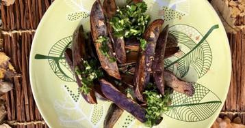Жареная фиолетовая картошка