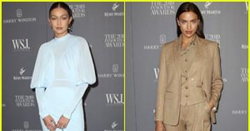 Gigi Hadid & Irina Shayk Arrive in Style for WSJ. Innovators Awards 2019