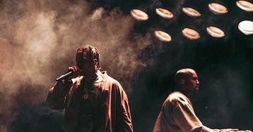 Travis Scott Brings Out Kanye West at Astroworld Festival
