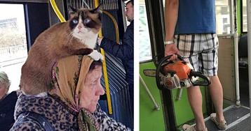 Странные и забавные вещи, которые творятся в общественном транспорте Литвы (17 фото)