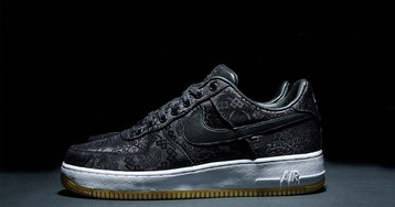 CLOT Gives a First Official Look at its fragment design x Nike Air Force 1″Black Silk""
