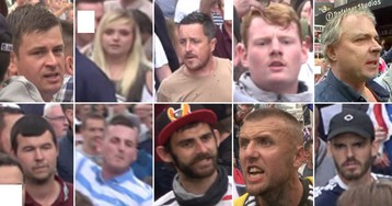 Hunt for 'Free Tommy Robinson' protesters after police officers were injured