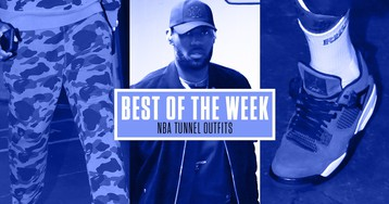 This Week's Best NBA Tunnel Outfits: PJ Tucker in Rhude, Gary Harris Jr. in Fear of God, and More