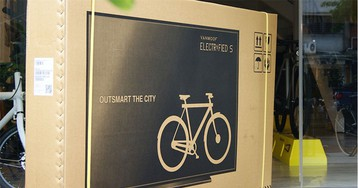 Bicycles shipped in fake flatscreen TV boxes suffer less shipping damage