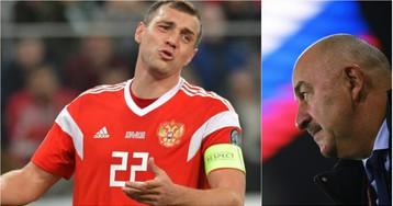 Черчесов и Дзюба оправдались за разгромное поражение от сборной Бельгии