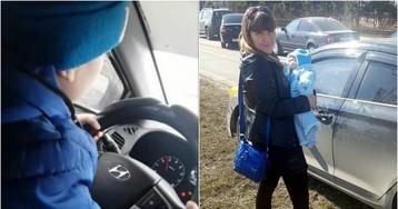Мать сняла своего 6-летнего ребенка за рулем автомобиля на скорости 130 км