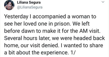 Woman's Powerful Twitter Thread On Prison Visit Struggles