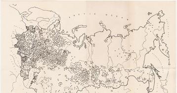 Расположение лагерей и тюрем в СССР в 1982 году
