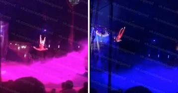 Оборвался трос. Питерская гимнастка рухнула с высоты на глазах зрителей
