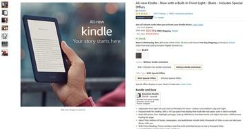Latest Amazon Kindle on sale for $60 ($30 off)