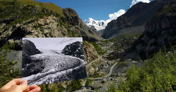 El derretimiento de los glaciares suizos, en imágenes